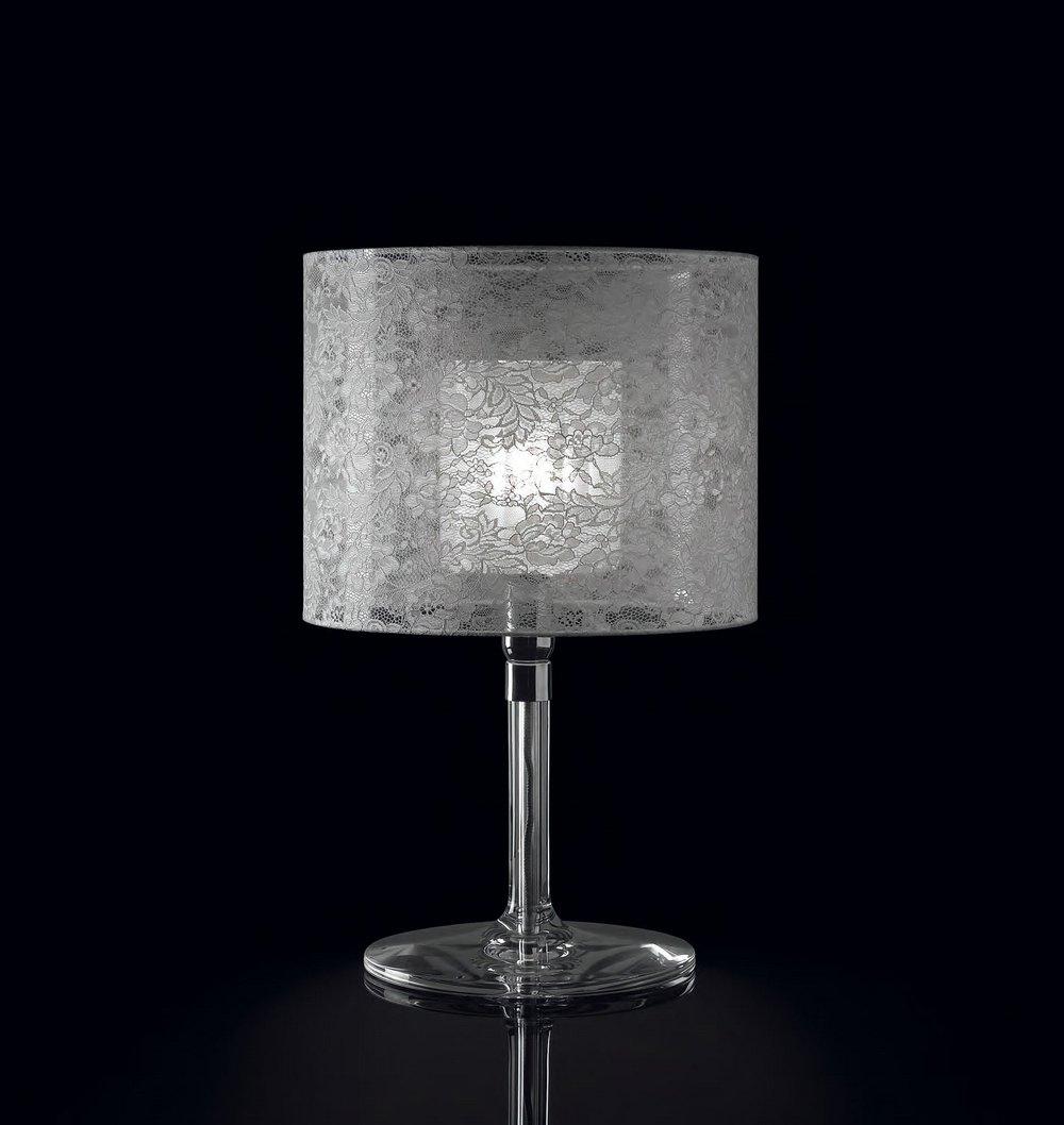 Rossana 10 Table Lamp ø28cm bright chrome Blonda white
