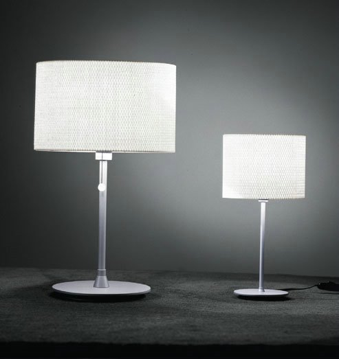 Tao 10 Table Lamp ø18cm Aluminium Matt Rafia white