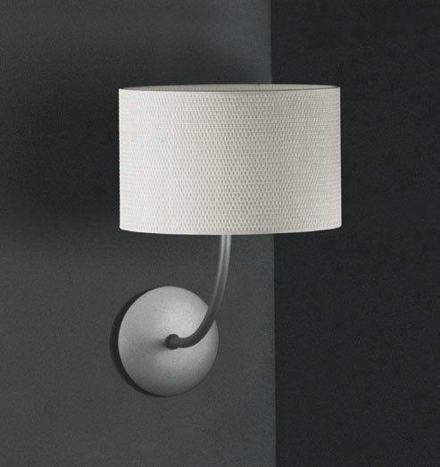 Tao 1AP18 Wall Lamp Aluminium Matt ø18cm Rafia white