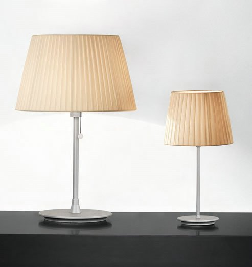 Tusscana 50 Table Lamp Aluminium Matt ø40cm Cinta silk