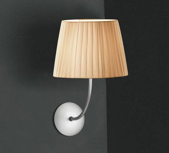 Tusscana 1AP20 Wall Lamp Aluminium Matt ø20cm Cinta silk beige