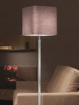 Anaca 60 lámpara of Floor Lamp Chrome wrinkled fabric white