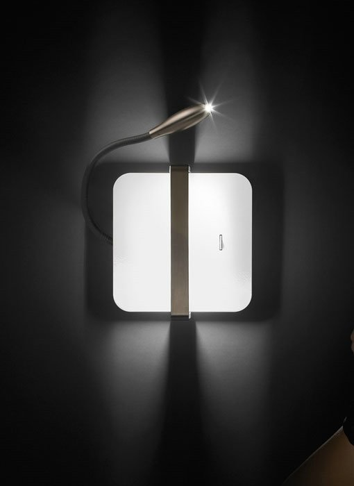 Enzo 1AP30 Wall Lamp Square with arm LED 1 switch Bronze