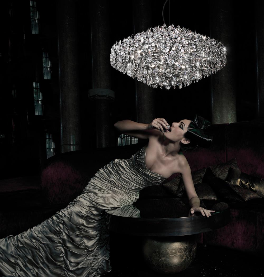 Amanda 1c40 8xG9 33w Cristal Swarovski Lámpara Colgante