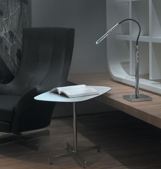 Luccas 10 Table Lamp LED 3w 700mA Aluminium Satin
