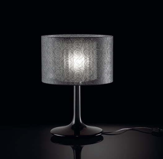 Plamira 10 Table Lamp Lacquered white ø26cm anthracite