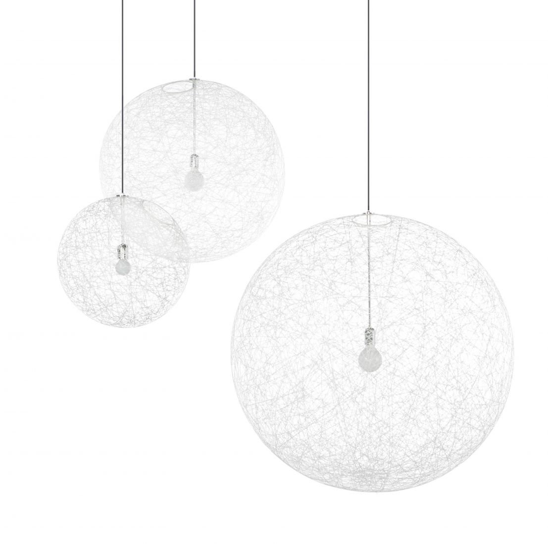 Random light Pendant Lamp Medium ø80cm 1x60w E27 White