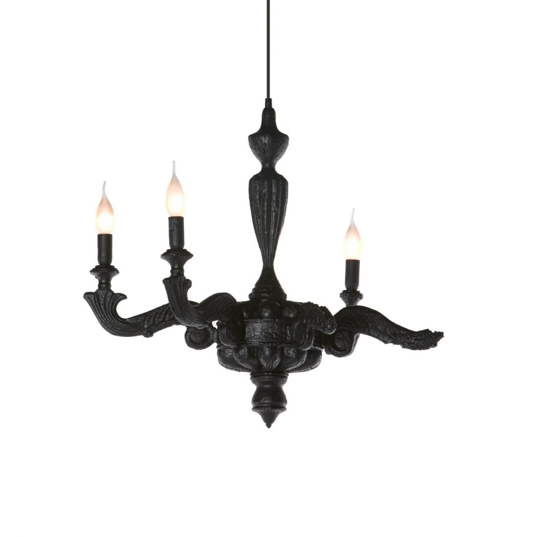 Smoke Chandelier Suspension 3x40w E14