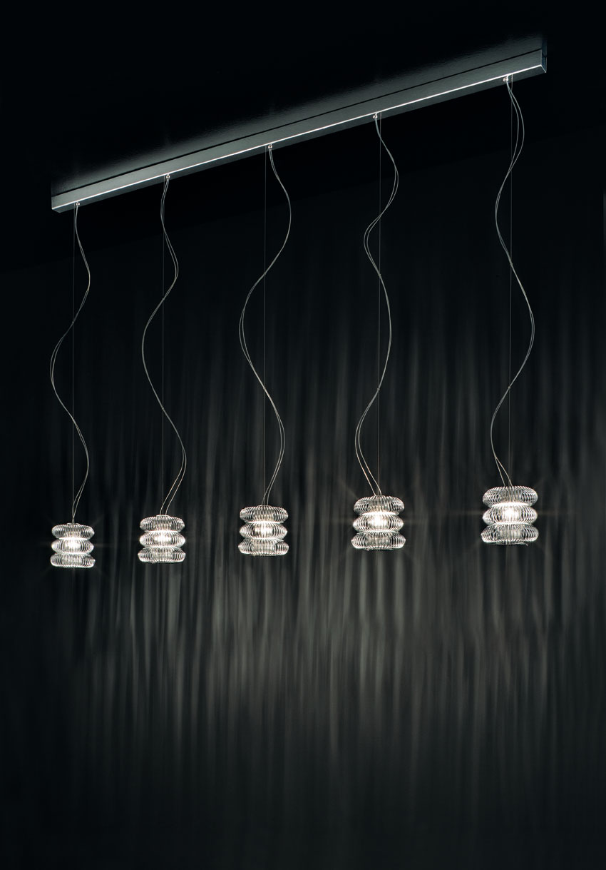 Spring SO 1 Pendant Lamp (without florón) Chrome