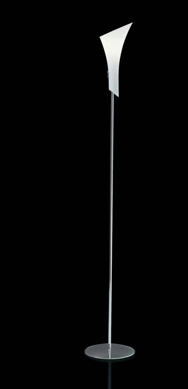 Contessina lámpara of Floor Lamp Chrome white