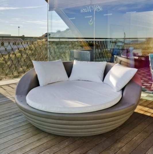 Formentera armchair Outdoor white 162x164x65cm