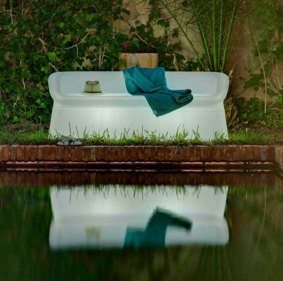 Menorca Bench sofa Light Wireless LED RGB bateria recargable