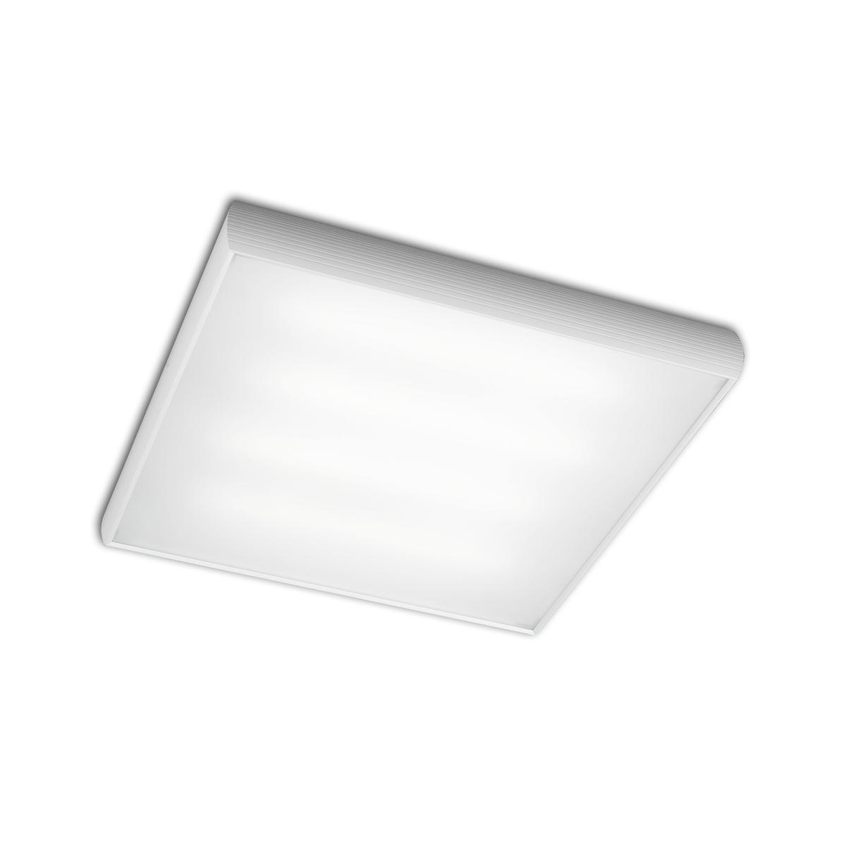 Aluminium ceiling lamp ELECTRON.4xE27 20w white matt