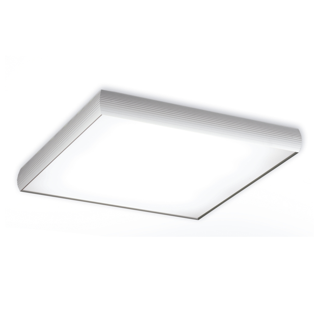 Aluminium ceiling lamp 4x2G11 36w Chrome Satin