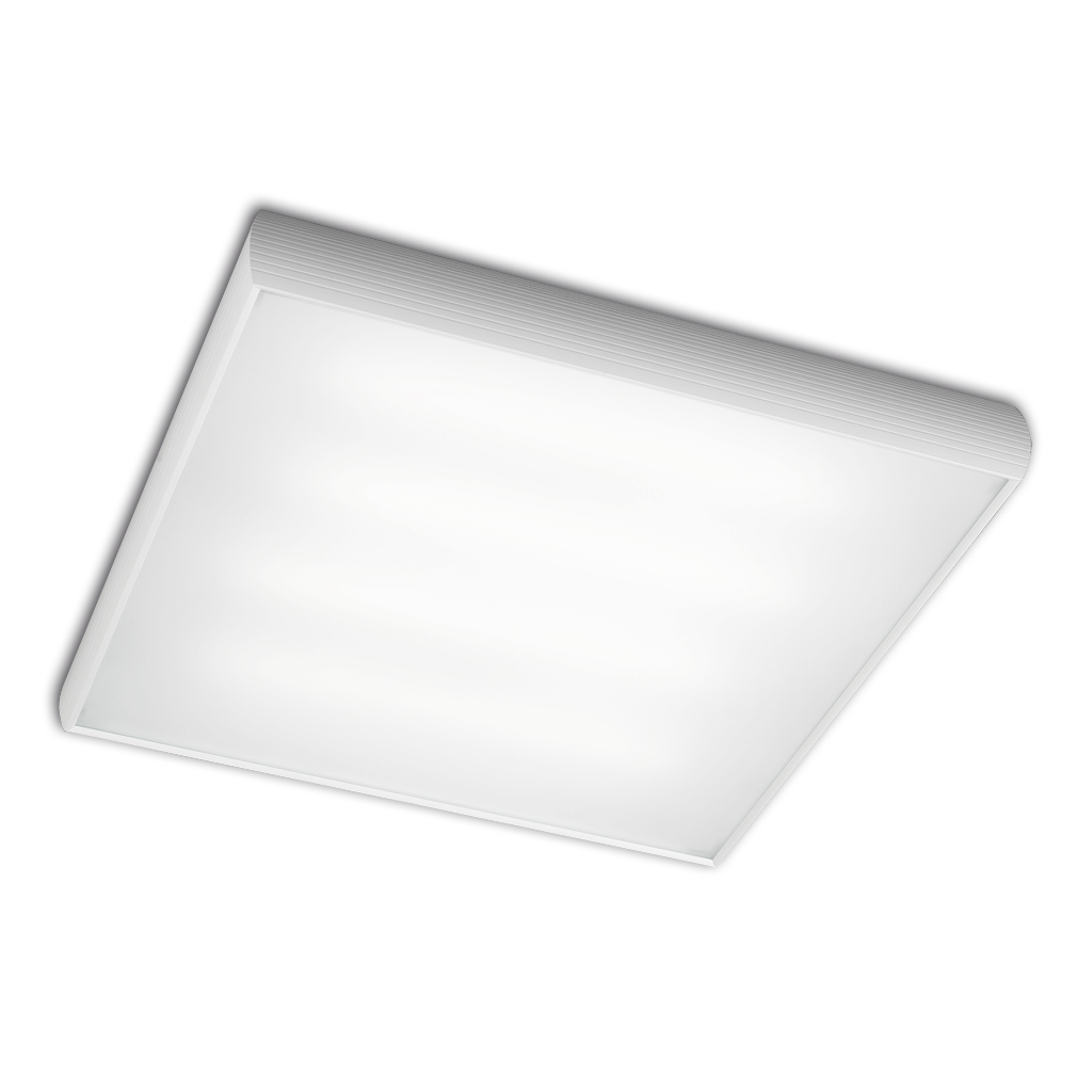 Aluminium ceiling lamp 4x2G11 36w white matt/Chrome Satin