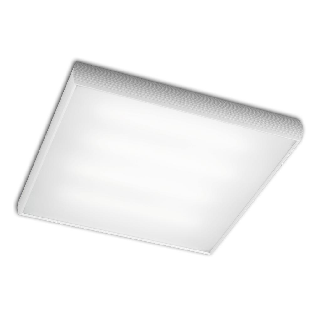 Aluminium ceiling lamp ELECTRON.4x2G11 36w white matt