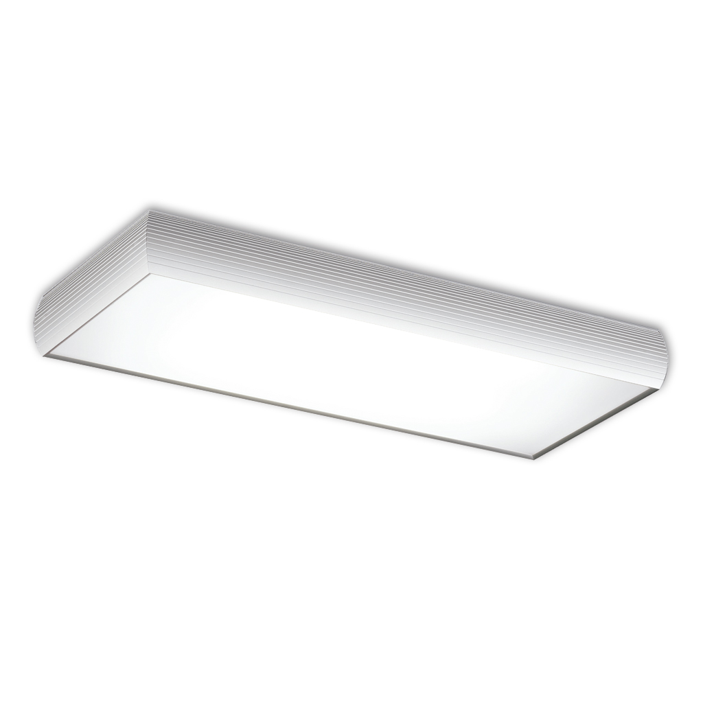 Aluminium ceiling lamp 2x2G11 36w white matt/Chrome Satin