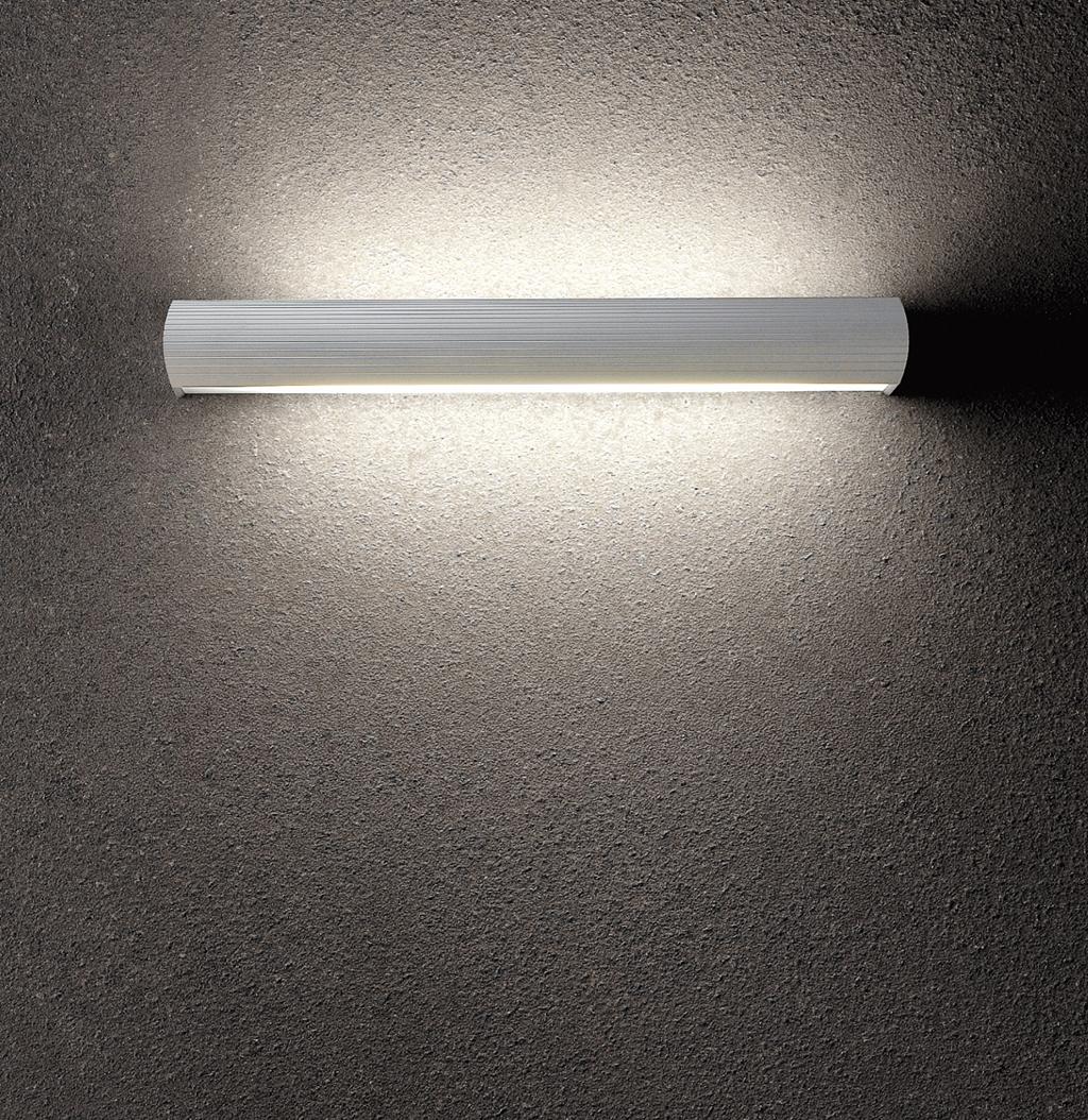 Aluminium luz de parede 1xE27 20w Cromo Satin