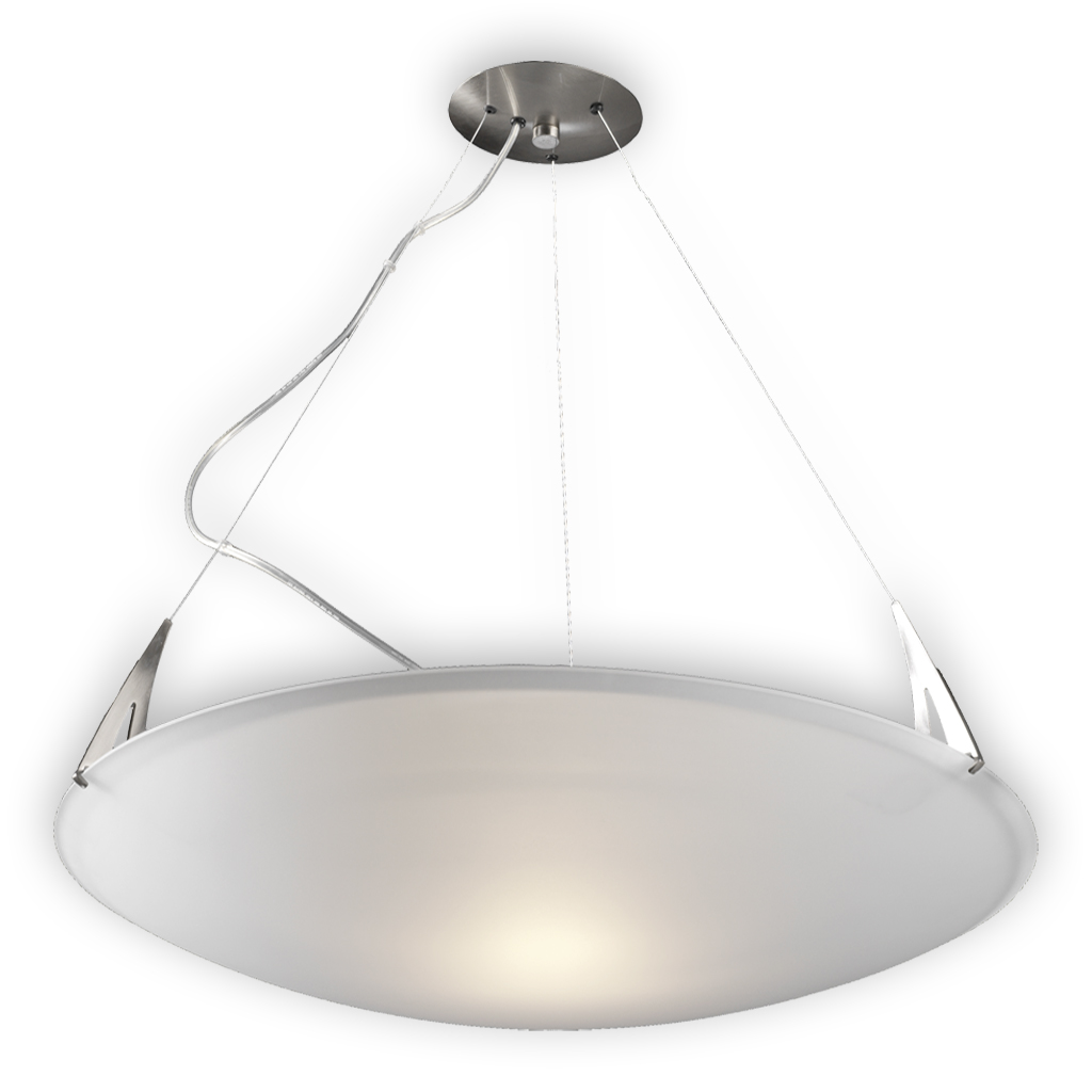 Arco Pendant Lamp opal EXTRA.80cm 1xR7s 160w Chrome Satin