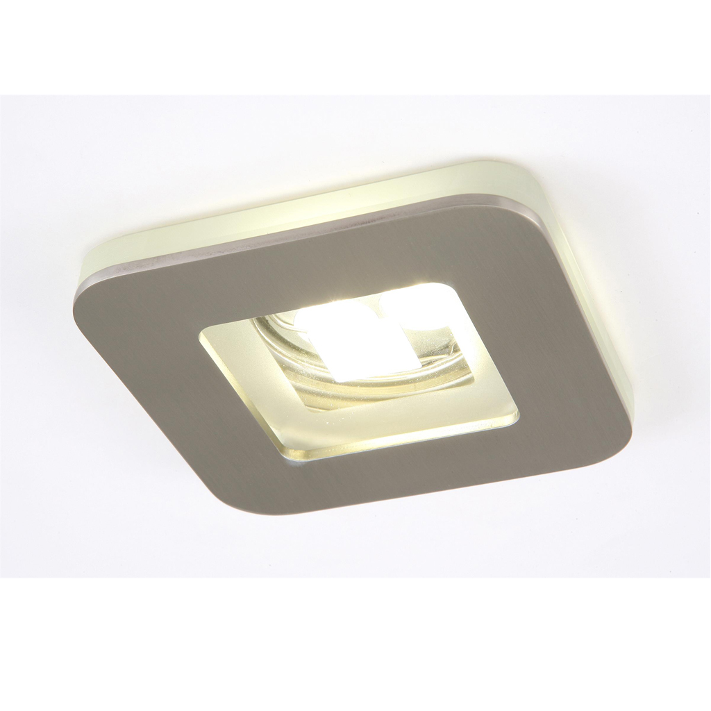 Artic Recessed 1xGU10 75w Nickel Satin