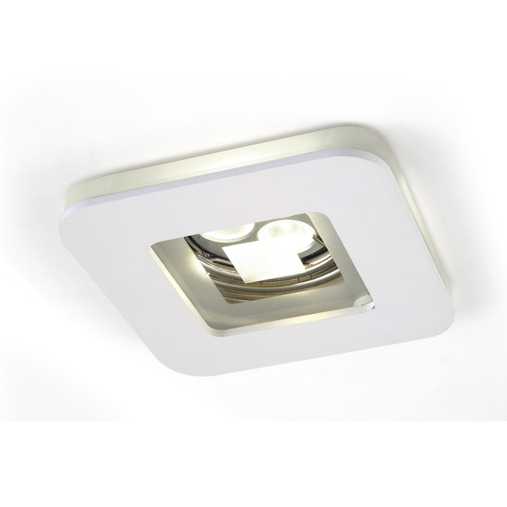 Artic Recessed 1xGU10 75w white/Chrome Satin