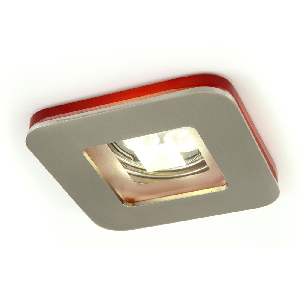 Artic Recessed 1xGU10 75w Nickel Satin/ámbar