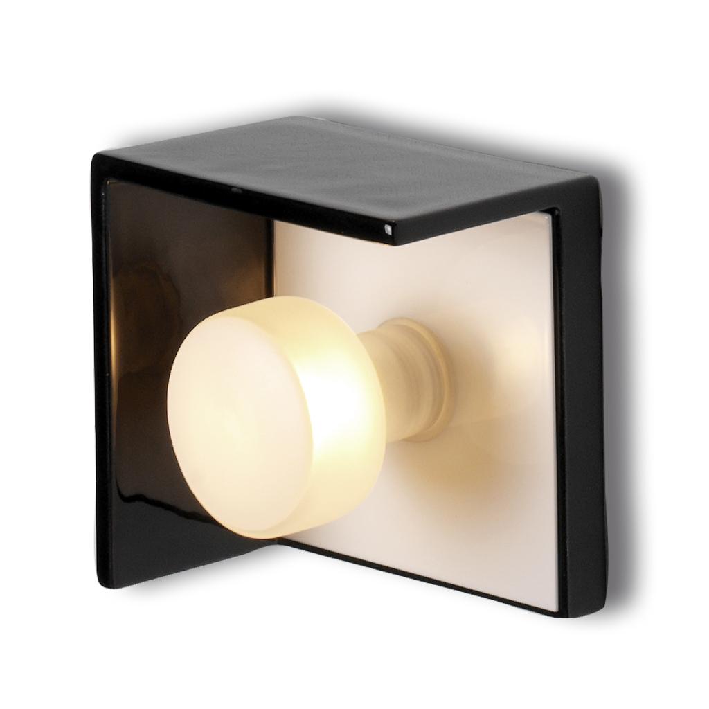 Bis Wall Lamp CERAMICA 1xG9 28w white/Black