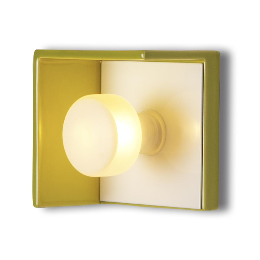 Bis Wall Lamp CERAMICA 1xG9 28w white/Pistacho