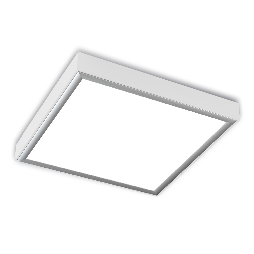 Box ceiling lamp ALUM white BRILLO 4xE27 23w