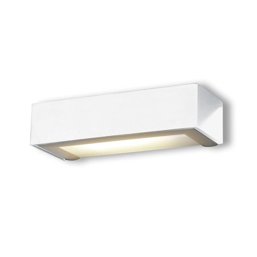 Box Wall Lamp ALUM.CENIZA 1xE27 20w