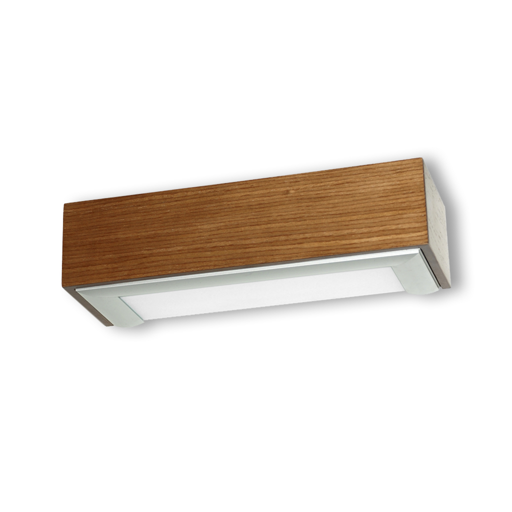 box Wall Lamp ALUM.ROBLE 1xE27 20w