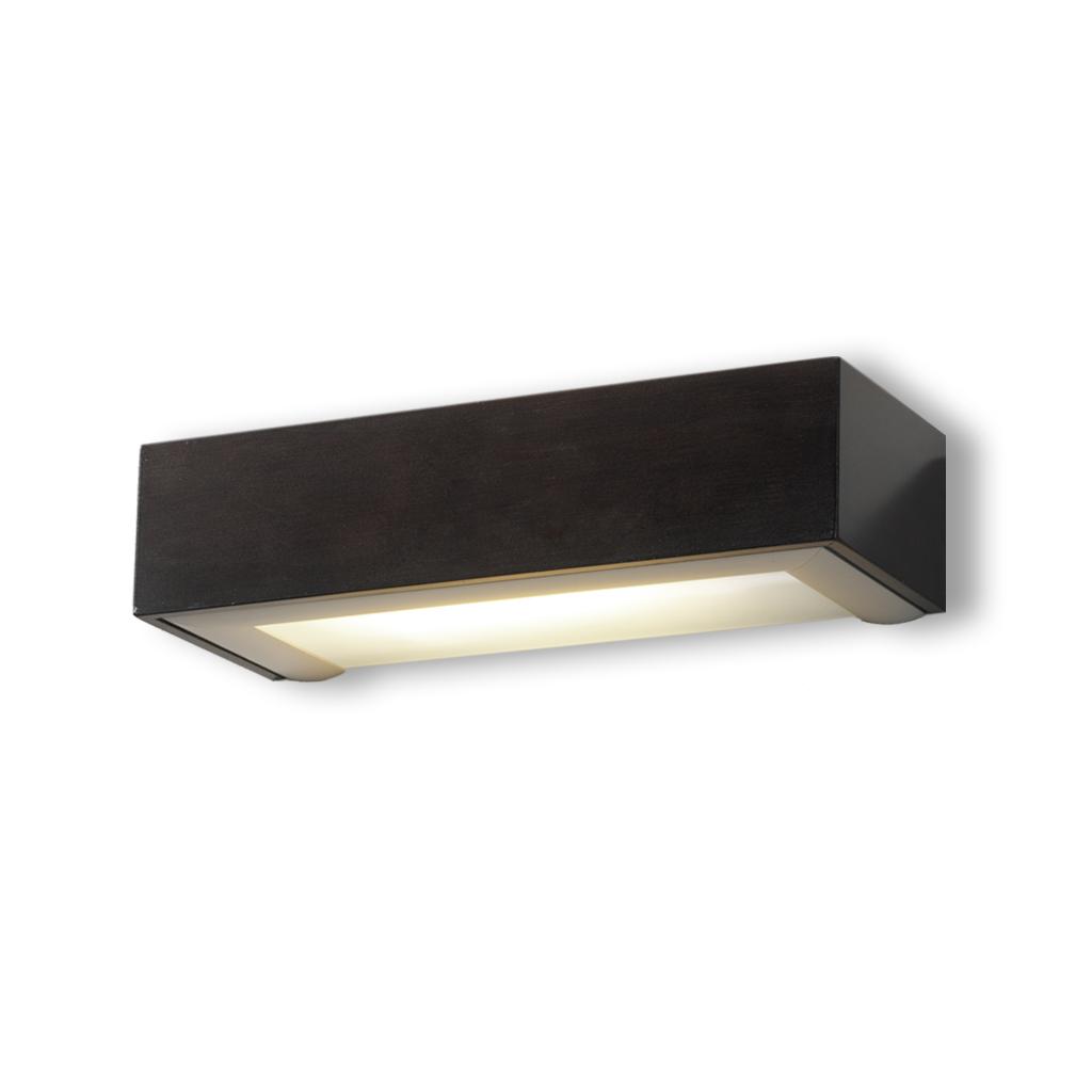 box Wall Lamp ALUM.WENGE 1xE27 20w