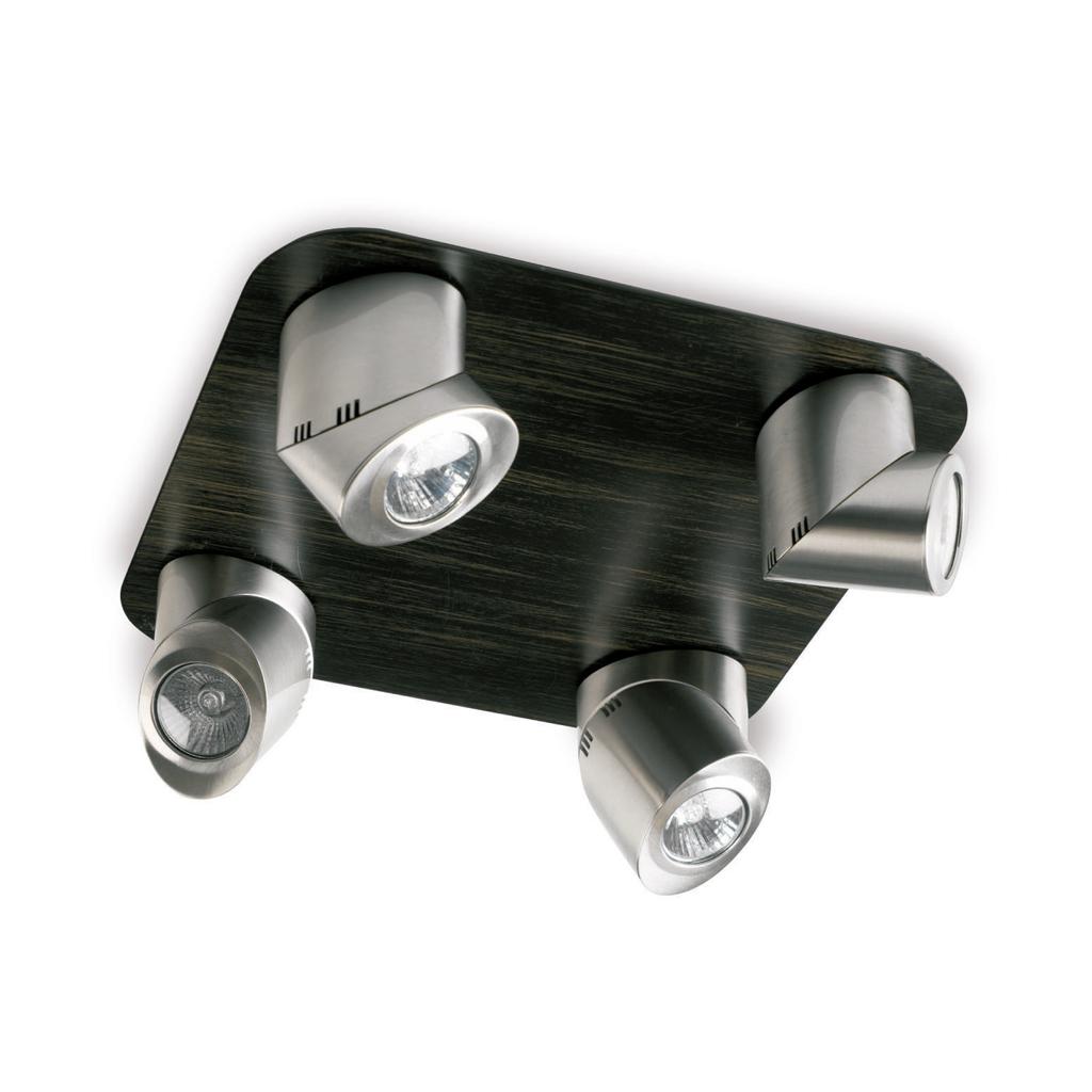 Elipse oval Spotlight 4xGU10 50w Chrome Satin/Chrome