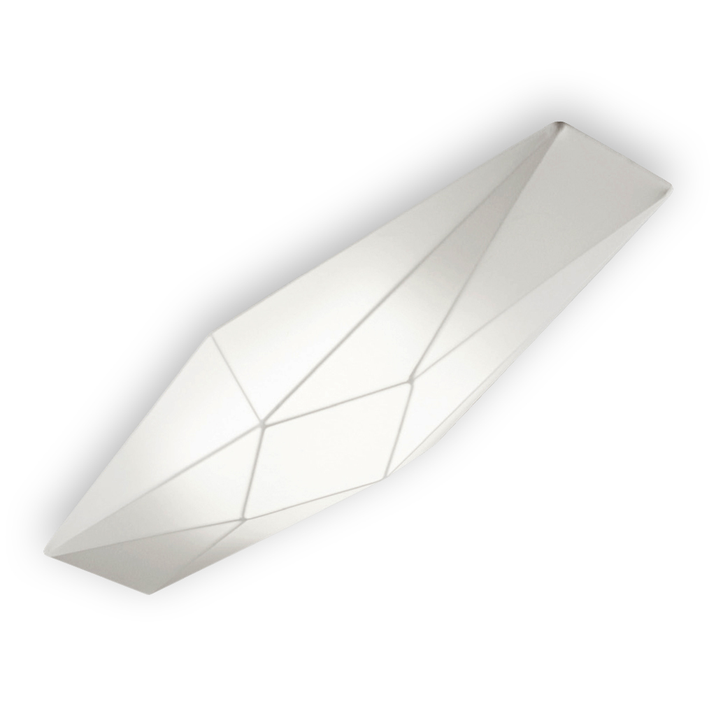 Polaris Applique 90cm E27 2x20w tissu blanc