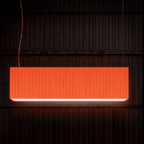Aitana Lamapara Colgante pantalla cinta Naranja 65cm