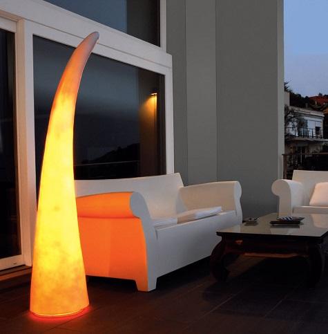 Martina lamp of Floor Lamp traslucido 165cm