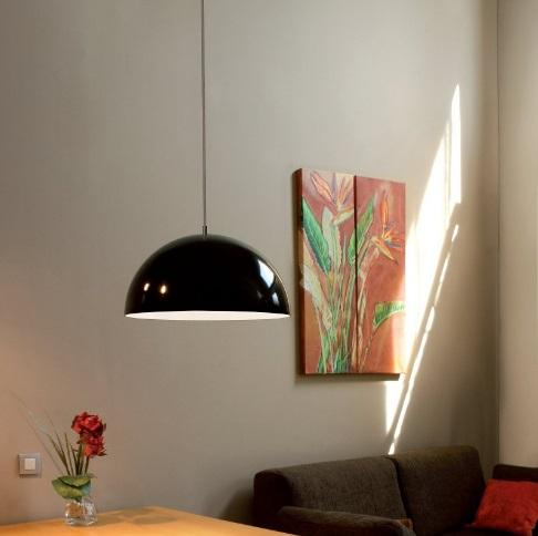 Onix Lámpara Colgante 20cm negro-Cromo