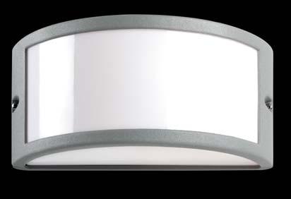 EFFECT E27 metacrilato Aluminio IP44