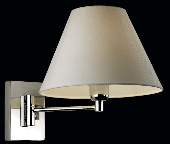SOFT Wall Lamp E27 Chrome braccio singolo