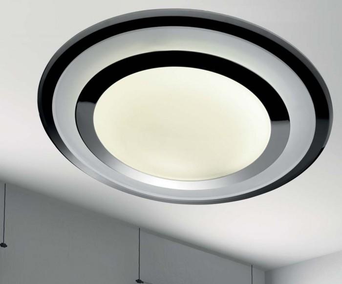UFO ceiling lamp 230V T5 40W 2700K Glass TRASP