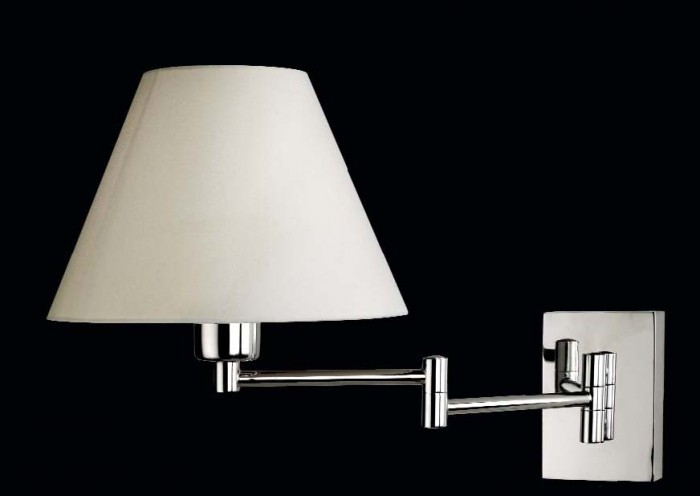 SOFT Wall Lamp E27 Chrome braccio doppio