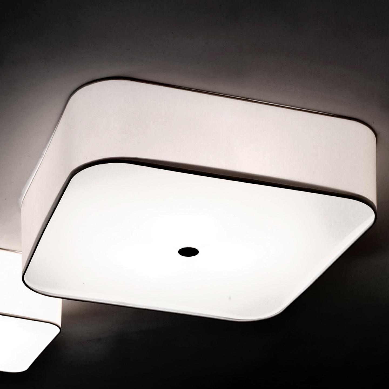 Slide Pequeña Cuadrado Aplique/Plafón 60x60x20cm 3xE27 100w blanco