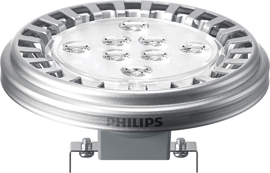 Bombilla LED G53 Master LED Spot 10W (50W) AR111( QR-111 ) 2700K 12V 24D