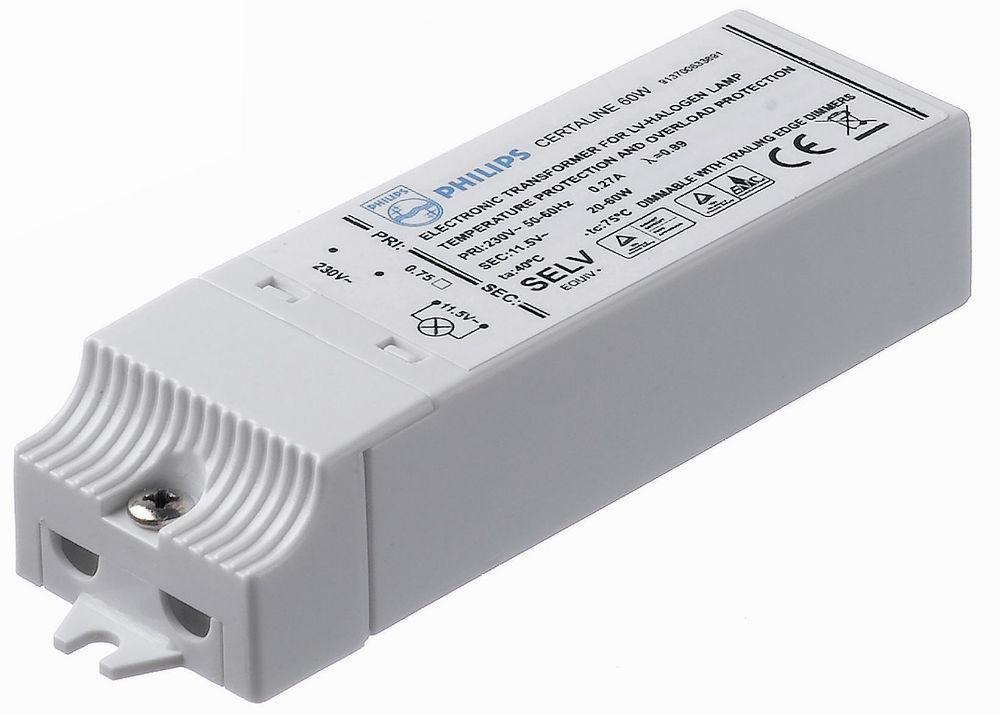 Certaline 60W 230 240V 50/60Hz Transformador elecrónico