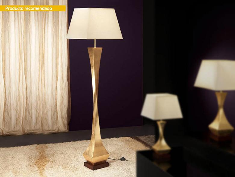 Deco Lámpara de Pie E27 60W Oro