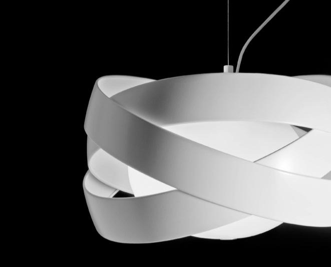 Siso T 2995 lamp Pendant Lamp ø48cm E27 3x100w white matt