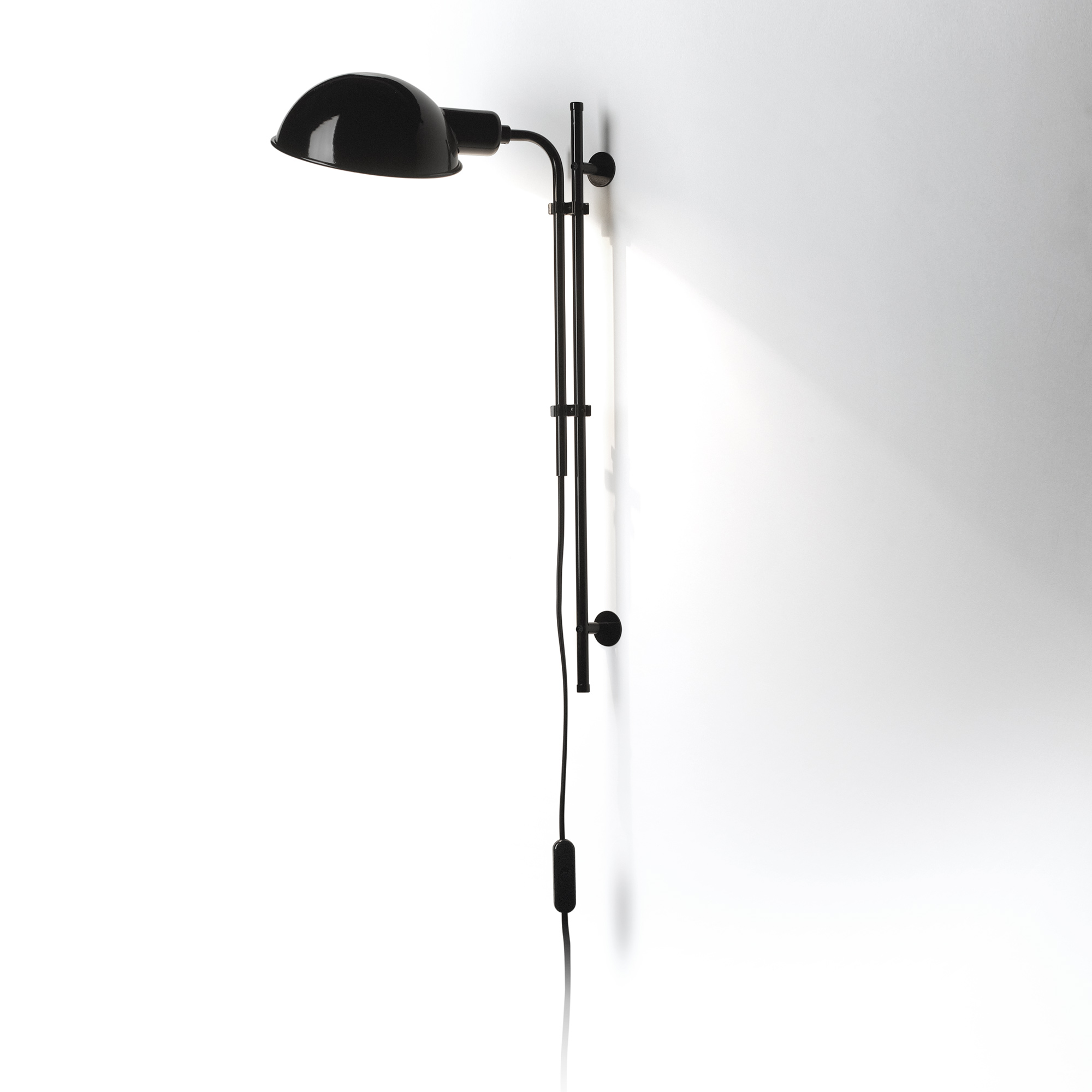 Funiculí­ to Wall Lamp E14 46W Black