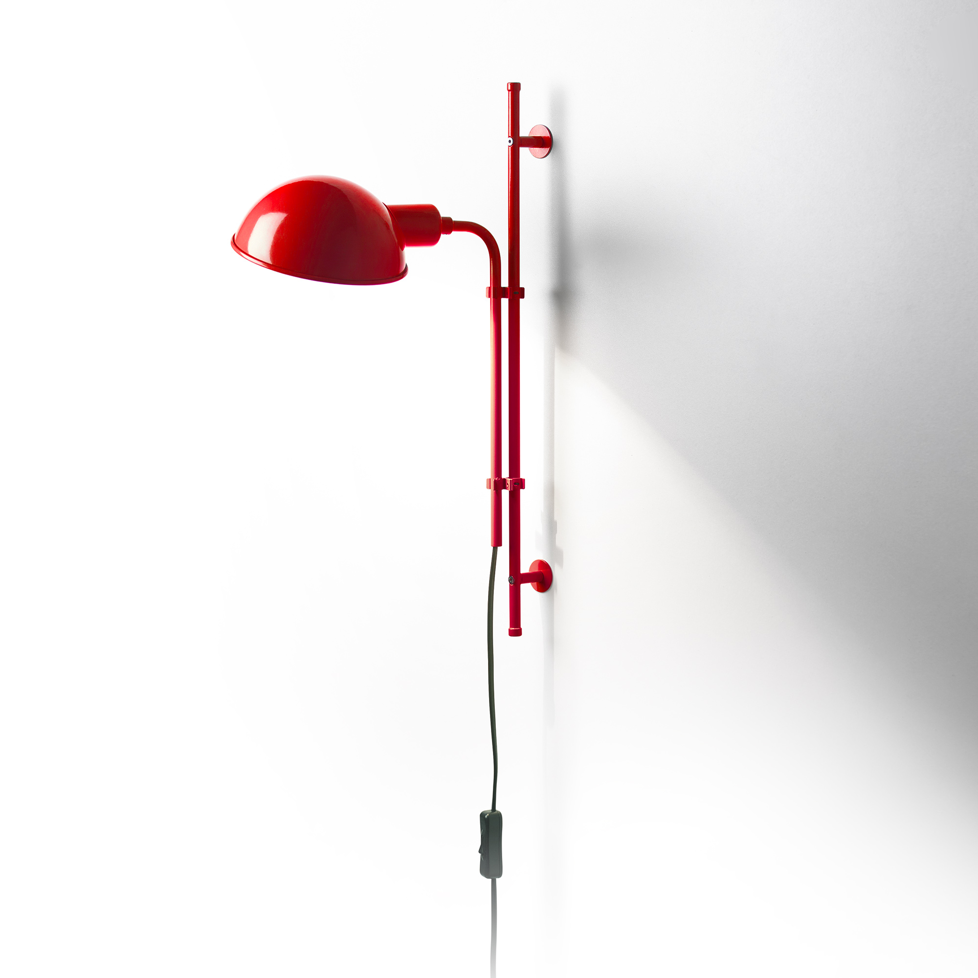Funiculí­ to Wall Lamp E14 46W Red