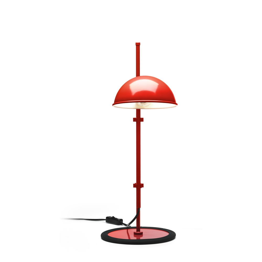 Funiculí­ S Lampe de table E14 46W Rouge