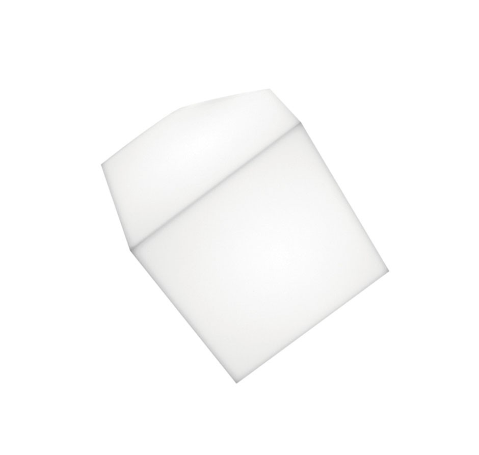 Edge Wall/Ceiling lamp 30 E27 23W TCT Diffuser in thermoplastic material: White